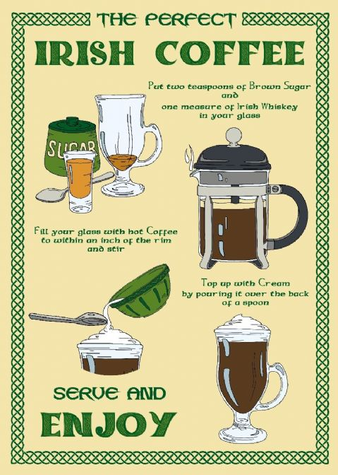 Samuel Lamont - Perfect Irish Coffee Tea Towel - Irish Souvenir